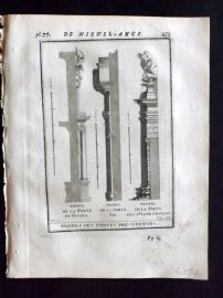 Vignola 1720 Architectural Print. Profiles from Michelangelo 62